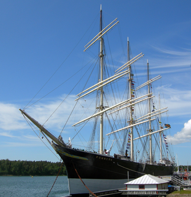 Pommern Museum Ship in the Aland Islands